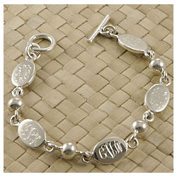 Personalized Mother's Oval Bracelet