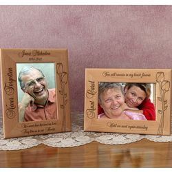 Personalized Memorial Flower Wooden Picture Frame