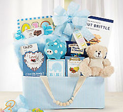 Blue Bundle of Joy Baby Gift Basket