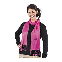 Personalized Hot Pink Scarf