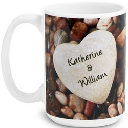 Heart in Pebbles Personalized Mug