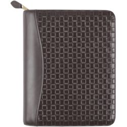 Zippered Leather Planner Cover
