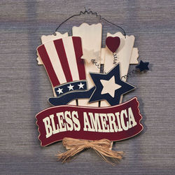 Bless America Wooden Wall Decor