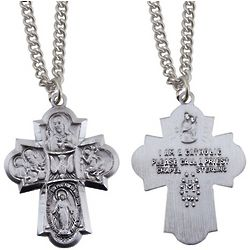 Christian Sterling Silver Four Way Medal