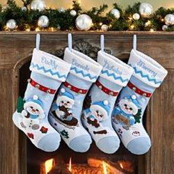 Snow Buddies Personalized Christmas Stocking