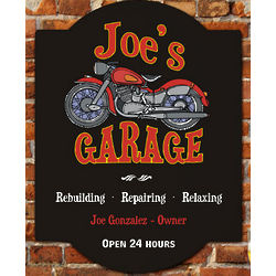 My Garage Personalized Wall Sign