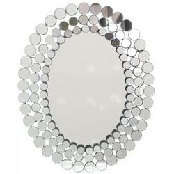 Suit and Tie Metal Wall Mirror