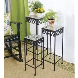 Ceramic Top Nesting Plant Stands