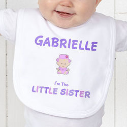 Sister Character Personalized Bib
