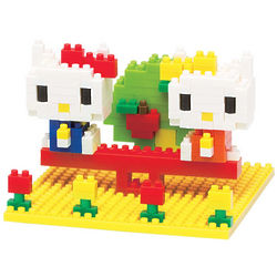 Hello Kitty and Mimmy in the Park Nanoblock Building Toys