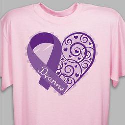 Personalized Survivor Ribbon T-Shirt