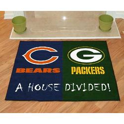 Green Bay Packers House Divided Doormat