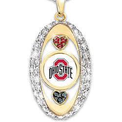 For the Love of the Game Ohio State Buckeyes Swarovski Pendant