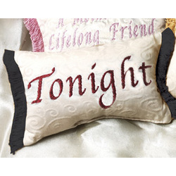 Tonight - Not Tonight Word Pillow