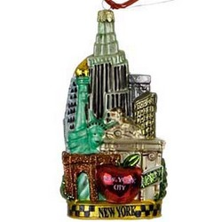 New York City Personalized Christmas Ornament