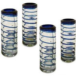 Cobalt Spiral Shot Glasses