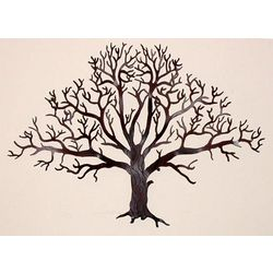 Oak Tree Large Metal Wall Art