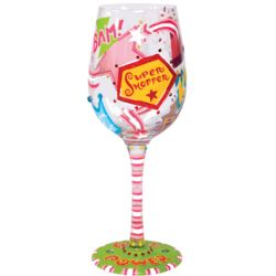 Girl Power Hand-Painted Wine Glass