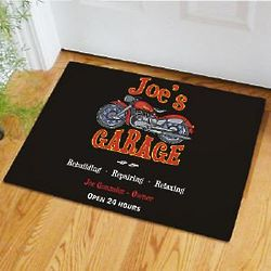 My Garage Personalized Doormat