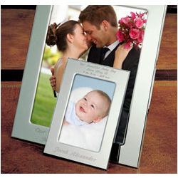 Personalized Simply Silver Picture Frame