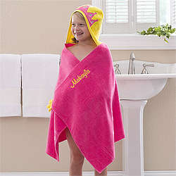 Princess Personalized Girl's Hooded Bath Towel