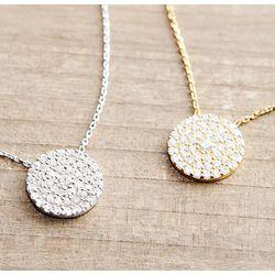 Swarovski Crystal Disc Necklace