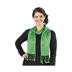 Personalized Green Scarf