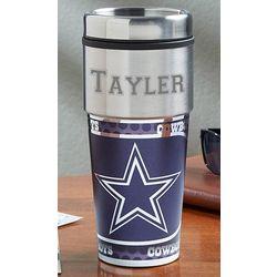 Personalized Dallas Cowboys Travel Mug