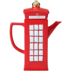 London Telephone Booth Ceramic Teapot