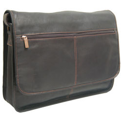 Passage Cafe Leather Laptop Messenger Bag