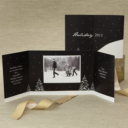 Snowscape Personalized Photo Christmas Cards