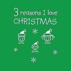 Personalized Reasons I Love Christmas T-Shirt or Sweatshirt