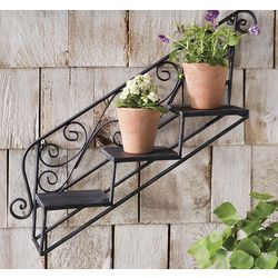 Hanging Staircase Iron Plant Shelf