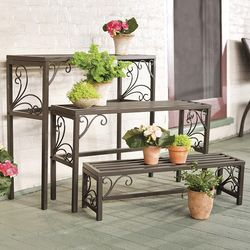 Nesting Plant Stands with Scrollwork