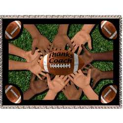 Personalized Football Coach Tapestry Throw