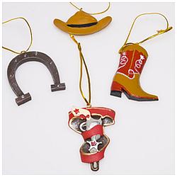 Cowboy Ornaments Set