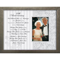 25th Wedding Anniversary Toast And Photo Frame Findgiftcom