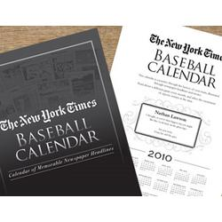 Personalized New York Times Baseball Calendar