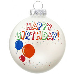 Happy Birthday Ornament