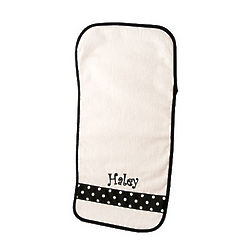 Personalized Burp Cloth in Black and White