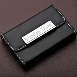 Personalized Baron Business Card Holder