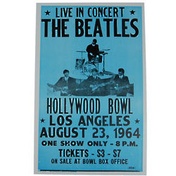 The Beatles Hollywood Bowl Poster