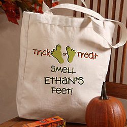 Personalized Smell My Feet Halloween Treat Bag