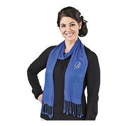 Personalized Blue Scarf