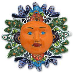 Springtime Sun Ceramic Wall Adornment