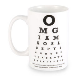 Eye Chart Ceramic Coffee Mug