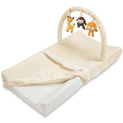 Contoured Changing Pad with Toy Bar