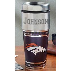 Personalized Denver Broncos Travel Mug