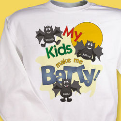 Batty Kids Halloween Sweatshirt