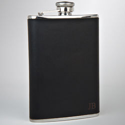 Personalized Knight Leather Flask